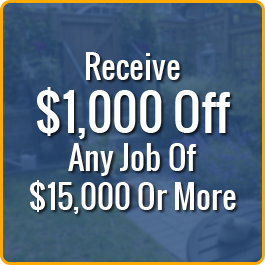 Receive $1,000 Off Any Job Of $15,000 Or More